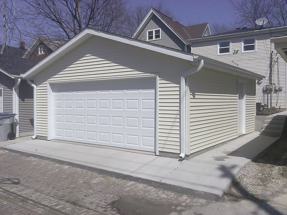 2  2 car detached garages